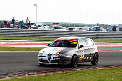 Steve O'Brien pictured competing in the ARCA Alfa Romeo Championship. Image captured at Snetterton on July 18, 2020 by 750 Motor Club's photographer Jonathan Elsey