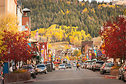 Street view of Park City, Utah, United States of America