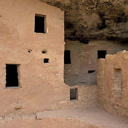 Mesa Verde National Park, CO. Spruce Tree House ruins.  Anasazi.  Ancient Puebloans.  From A.D. 1200 to 1276.