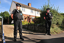 © Licensed to London News Pictures. 29/09/2018<br /> HADLOW, UK.<br /> Police outside number 24 Carpenters Lane, the drive is also for 26 which is to the left.<br /> A murder investigation has been launched in Hadlow,Kent after the deaths of two women at Carpenters Lane. A 28 year old man has been arrested on suspicion of murder after three people suffered serious injuries. Police forensic officers are at the scene inside two properties 26 and 24 Carpenters Lane.<br /> Photo credit: Grant Falvey/LNP