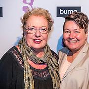 NLD/Hilversum//20170306 - uitreiking Buma Awards 2017, Louise Schmidt en partner Astrid Nijgh