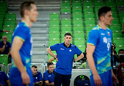 Slobodan Kovac, head coach of Slovenia during volleyball match between National teams of Slovenia and Portugal in 2nd Round of 2018 FIVB Volleyball Men's World Championship qualification, on May 26, 2017 in Arena Stozice, Ljubljana, Slovenia. Photo by Vid Ponikvar / Sportida