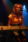 Aminah of Black Buddafly at the Bilal performance at Highline Ballroom produced by Jill Newman Productions on August 15, 2008 in New York City.