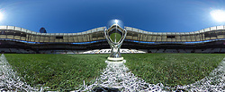 ISTANBUL, TURKEY - Tuesday, August 13, 2019: A view of the Super Cup trophy ahead of the UEFA Super Cup match between Liverpool FC and Chelsea FC at Besiktas Park. (Pic by Handout/UEFA)