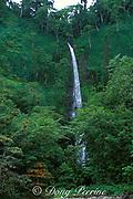 waterfall near shoreline of Cocos island, Costa Rica