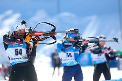 Julia Schwaiger of Austria competes during the IBU World Championships Biathlon Women's 7,5 km Sprint Competition on February 13, 2021 in Pokljuka, Slovenia. Photo by Primoz Lovric / Sportida
