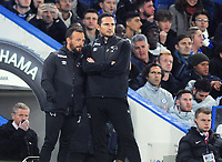 Football - 2018 / 2019 EFL Carabao (League) Cup - Fourth Round: Chelsea vs. Derby County<br /> <br /> Derby Manager, Frank Lampard with assistant coach, Jody Morris, at Stamford Bridge.<br /> <br /> COLORSPORT/ANDREW COWIE