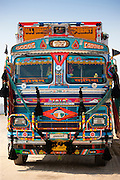 Decorated Tata truck at Rasulpura in Sawai Madhopur, Rajasthan, Northern India