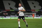 Graeme Shinnie of Derby County (4)  during the EFL Sky Bet Championship match between Derby County and Cardiff City at the Pride Park, Derby, England on 28 October 2020.