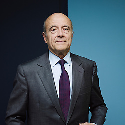 Paris, France. April 30, 2014. Alain Juppé, former Prime Minister and currently the Mayor of Bordeaux, in Le Monde's headquarter. Photo: Antoine Doyen
