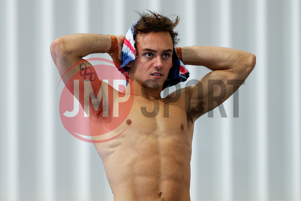 Tom Daley from Dive London Aquatics Club looks on during a warm up - Mandatory byline: Rogan Thomson/JMP - 23/01/2016 - DIVING - Southend Swimming & Diving Centre - Southend-on-Sea, England - British National Diving Cup Day 2.