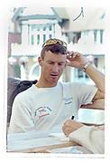 Henley on Thames, England, 1999 Henley Royal Regatta, River Thames, Henley Reach,  [© Peter Spurrier/Intersport Images], DEN LM4- Stroke Victor FEDDERSEN,