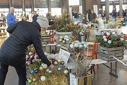 December 18, 2018 - Detroit, Michigan, U.S. - Detroit, Michigan USA - 18 December 2018 - Holiday gifts on sale at Detroit's Eastern Market. (Credit Image: © Jim West/ZUMA Wire)