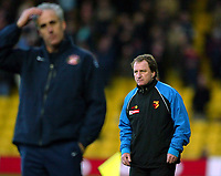 Photo: Scott Heavey.<br />Watford v Sunderland. Nationwide Division One. 07/02/2004.<br />Mick McCarthy (L) and Ray Lewington look on as the two teams cancel each other out