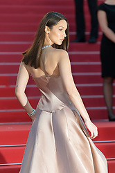 Cannes - Naked Back - Model Bella Hadid arriving on the red carpet of 'Les Eternels' (Ash Is The Purest White) (Jiang Hu Er Nv)' screening held at the Palais Des Festivals in Cannes, France on May 11, 2018 as part of the 71st Cannes Film Festival. Photo by Nicolas Genin/ABACAPRESS.COM
