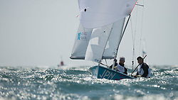 03.08.2012, Bucht von Weymouth, GBR, Olympia 2012, Segeln, im Bild Harada Ryunosuke, Yoshida Yuugo, (JPN, 470 Men) // during Sailing, at the 2012 Summer Olympics at Bay of Weymouth, United Kingdom on 2012/08/03. EXPA Pictures © 2012, PhotoCredit: EXPA/ Juerg Kaufmann ***** ATTENTION for AUT, CRO, GER, FIN, NOR, NED, POL, SLO and SWE ONLY!