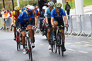 Men Road Race 230,4 km, Davide Cimolai (Italy), Matteo Trentin (Italy), Wout Van Aert (Belgium), during the Cycling European Championships Glasgow 2018, in Glasgow City Centre and metropolitan areas, Great Britain, Day 11, on August 12, 2018 - Photo Luca Bettini / BettiniPhoto / ProSportsImages / DPPI - Belgium out, Spain out, Italy out, Netherlands out -