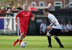 Head for Change's Craig Hignett (left) during the Head for Change and the Solan Connor Fawcett Trust charity match at Spennymoor Town FC, County Durham. Picture date: Sunday September 26, 2021.