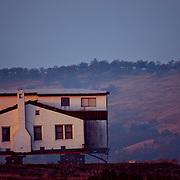 Image of a home up on blocks in El Dorado County near Latrobe Road, CA.