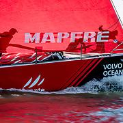 © Maria Muina I MAPFRE. Start of Leg 8 from Itajaí to Newport. Salida de la etapa 8 de Itajaí a Newport