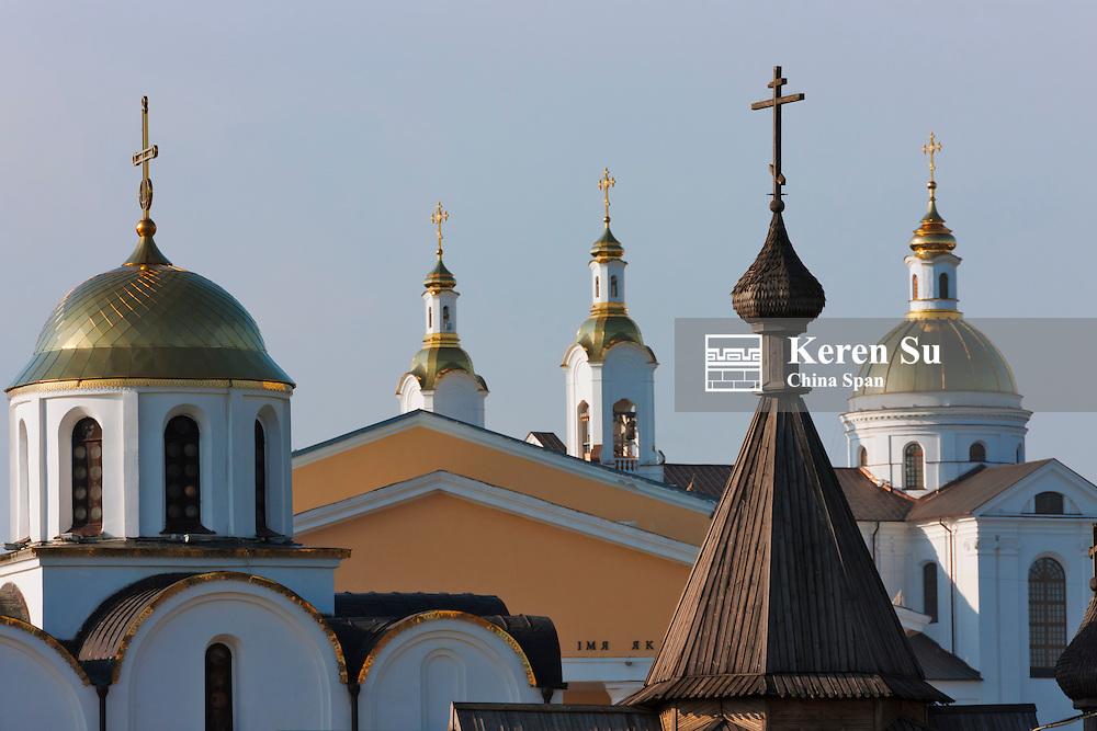 Orthodox church in Victory Square, Vitebsk, Belarus