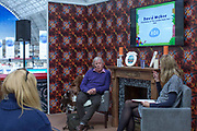 Illustrator David McKee in conversation with Ren Renwick during day one of the London Book Fair at Kensington Olympia on the 12th March 2019 in London in the United Kingdom.