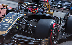 May 25, 2019 - Montecarlo, Monaco - Kevin Magnussen of Denmark and Haas F1 Team driver goes during the qualification session at Formula 1 Grand Prix de Monaco on May 25, 2019 in Monte Carlo, Monaco. (Credit Image: © Robert Szaniszlo/NurPhoto via ZUMA Press)