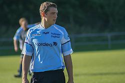 FODBOLD: Jacob Wedell (Helsingør) under kampen i Kvalifikationsrækken, pulje 1, mellem Nivå-Kokkedal FK og Elite 3000 Helsingør og den 23. september 2006 på Karsemosegård. Idrætsanlæg i Nivå Foto: Claus Birch