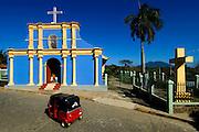 Nicaragua / San Juan de Oriente / Pueblo Blanco / Church / Mombacho Volcano / Three Wheeled.Taxi