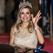 NLD/Amsterdam//20170523 - Koningspaar bij het diner Corps Diplomatique,  Koningin Maxima