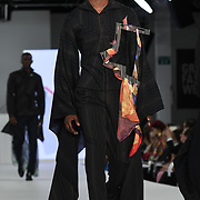 Designer Ambrose Frosaker Lunde at the Best of Graduate Fashion Week showcases at the Graduate Fashion Week 2018, June 6 2018 at Truman Brewery, London, UK.