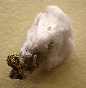 Native gold on a piece of Quartz. Found in the North Star mine, California.