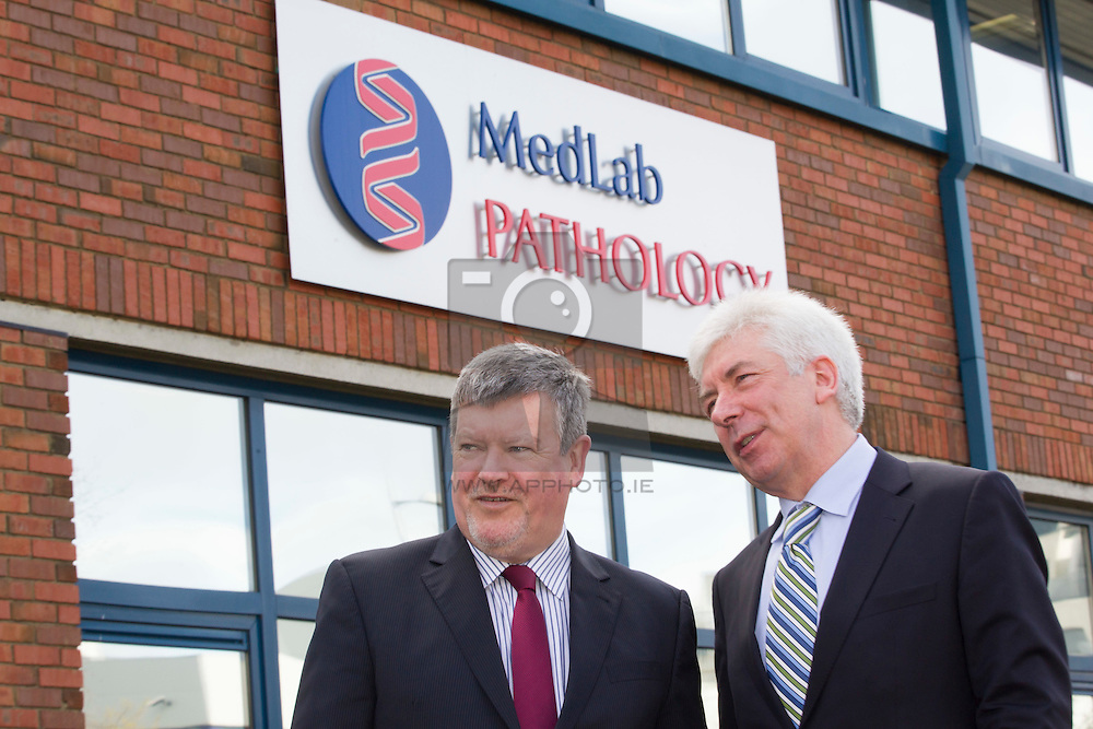 Eamonn Madden, CEO, MedLab Pathology with Minister for Primary Care, Mr Alex White T.D.,