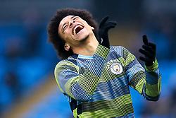 Leroy Sane of Manchester City laughs - Mandatory by-line: Robbie Stephenson/JMP - 06/01/2019 - FOOTBALL - Etihad Stadium - Manchester, England - Manchester City v Rotherham United - Emirates FA Cup third round proper
