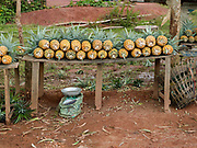 Pineapples for sale on the roadside, Ban Namoune, Xieng Khouang Province, Lao PDR