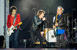 Mick Jagger, Keith Richards, Ronnie Wood and Charlie Watts of The Rolling Stones perform on stage at Ricoh Arena on June 02, 2018 in Coventry, England. Picture date: Saturday 02 June, 2018. Photo credit: Katja Ogrin/ EMPICS Entertainment.