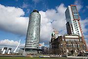 De Kop van Zuid in Rotterdam, Netherlands.Rotterdam, Zuid Holland