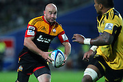 Chiefs' Brendon Leonard makes a run. Super Rugby rugby union match, Chiefs v Hurricanes at Waikato Stadium, Hamilton, New Zealand. Saturday 28th April 2012. Photo: Anthony Au-Yeung / photosport.co.nz