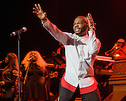 WASHINGTON, DC - March 19th, 2016 - Gospel artist Kirk Franklin performs at the Warner Theatre in Washington, D.C. as part of his 20 Years in One Night tour. Franklin released his twelfth studio album late last year and was recently featured on Kanye West's new album, The Life of Pablo. (Photo by Kyle Gustafson / For The Washington Post)