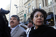 29 April 2010 New York, NY- l to r: Richard Trumpka, President AFL-CIO and Arlene Holt Baker, Vice President AFL-CIO at The March on Wall Street held at City Hall Park with proceeding March on Wall Street Protest on April 29, 2010 in New York City.