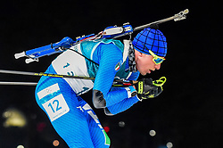 February 18, 2018 - Pyeongchang, Gangwon, South Korea - Lukas Hofer of  Italy competing in  15 km mass start biathlon at Alpensia Biathlon Centre, Pyeongchang,  South Korea on February 18, 2018. (Credit Image: © Ulrik Pedersen/NurPhoto via ZUMA Press)