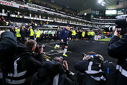 Wayne Rooney of Derby County runs out past a group of photographers to warm up ahead of his debut - Mandatory by-line: Robbie Stephenson/JMP - 02/01/2020 - FOOTBALL - Pride Park Stadium - Derby, England - Derby County v Barnsley - Sky Bet Championship