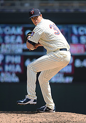 May 2, 2018 - Minneapolis, MN, U.S. - MINNEAPOLIS, MN - MAY 02: Minnesota Twins Pitcher Trevor Hildenberger (39) delivers a pitch during a MLB game between the Minnesota Twins and Toronto Blue Jays on May 2, 2018 at Target Field in Minneapolis, MN.The Twins defeated the Blue Jays 4-0.(Photo by Nick Wosika/Icon Sportswire) (Credit Image: © Nick Wosika/Icon SMI via ZUMA Press)