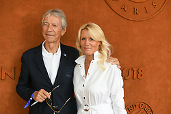 Journalist Jean-Claude Narcy and Alice Bertheaume attend - Day Twelve at Roland Garros on June 7, 2018 in Paris, France. Photo by Laurent Zabulon/ABACAPRESS.COM