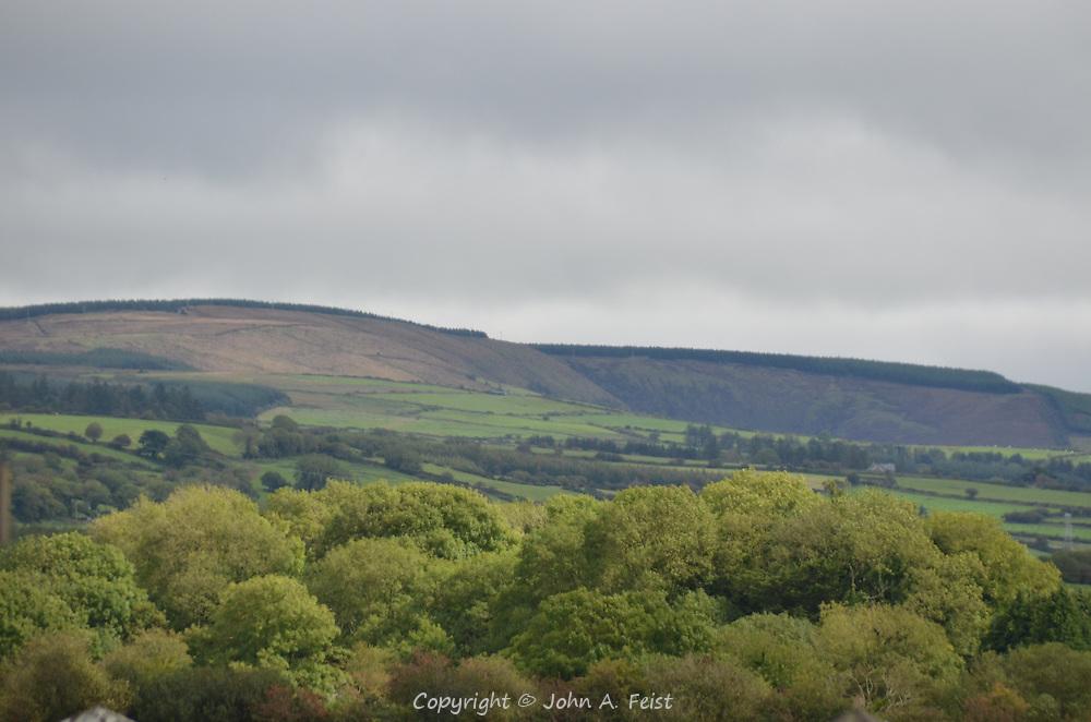 The scenic countryside of Castleisland, Ireland
