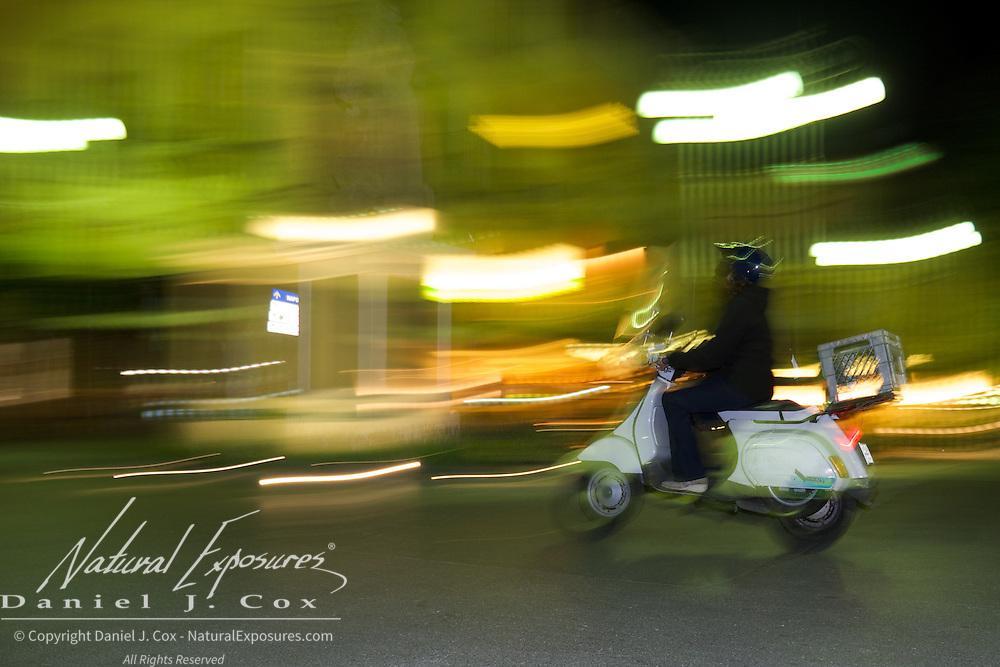 Night scenes in Sorrento, Italy