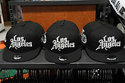 LA Clippers City Edition baseball caps at Dick's Sporting Goods at the Glendale Galleria indoor shopping mall, Friday, Dec. 4, 2020, in Glendale, Calif.