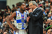 DESCRIZIONE : Campionato 2014/15 Dinamo Banco di Sardegna Sassari - Enel Brindisi<br /> GIOCATORE : Jerome Dyson Romeo Sacchetti<br /> CATEGORIA : Fair Play Allenatore Coach<br /> SQUADRA : Dinamo Banco di Sardegna Sassari<br /> EVENTO : LegaBasket Serie A Beko 2014/2015<br /> GARA : Dinamo Banco di Sardegna Sassari - Enel Brindisi<br /> DATA : 27/10/2014<br /> SPORT : Pallacanestro <br /> AUTORE : Agenzia Ciamillo-Castoria / M.Turrini<br /> Galleria : LegaBasket Serie A Beko 2014/2015<br /> Fotonotizia : Campionato 2014/15 Dinamo Banco di Sardegna Sassari - Enel Brindisi<br /> Predefinita :