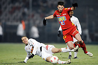 Fotball<br /> Frankrike<br /> Foto: DPPI/Digitalsport<br /> NORWAY ONLY<br /> <br /> FOOTBALL - FRENCH CHAMPIONSHIP 2007/2008 - L1 - LE MANS UC v AS MONACO - 26/01/2008 - ANTHONY LE TALLEC (MANS) / DIEGO PEREZ (MON)