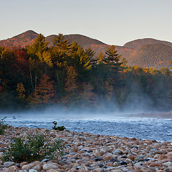 The Saco RIver in New Hampshire's White Mountains. Bartlett, New Hampshire.